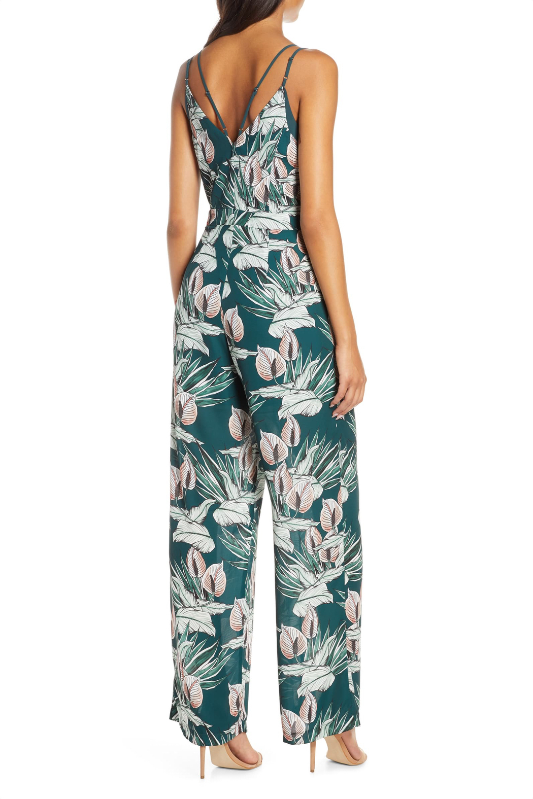 Adelyn Rae Nissa Tropical Jumpsuit - Front Full Image