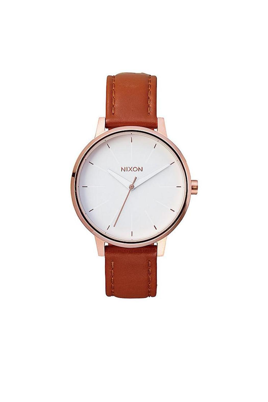 Nixon  Kensington Leather Watch - Front Cropped Image