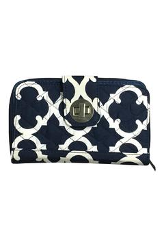 Shoptiques Product: Navy Quilted Wallet