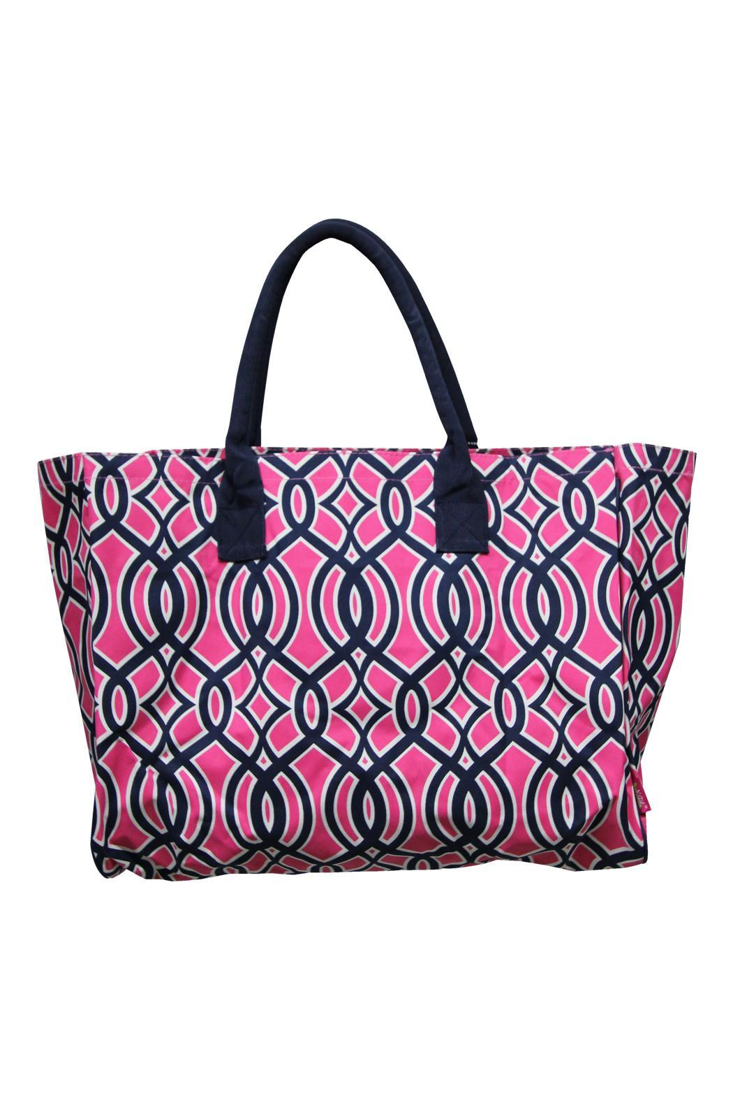 NNK Pink Vine Tote - Front Cropped Image