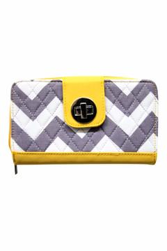 Shoptiques Product: Yellow Quilted Wallet