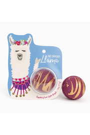 Cait + Co No Drama Llama Bath Bomb - Dark Woods, Amber & Sweet Moss - Product Mini Image