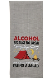 Park Designs No Great Camping Dishtowel - Product Mini Image