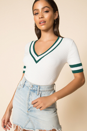 MinkPink No Limit Knit Top - Front cropped