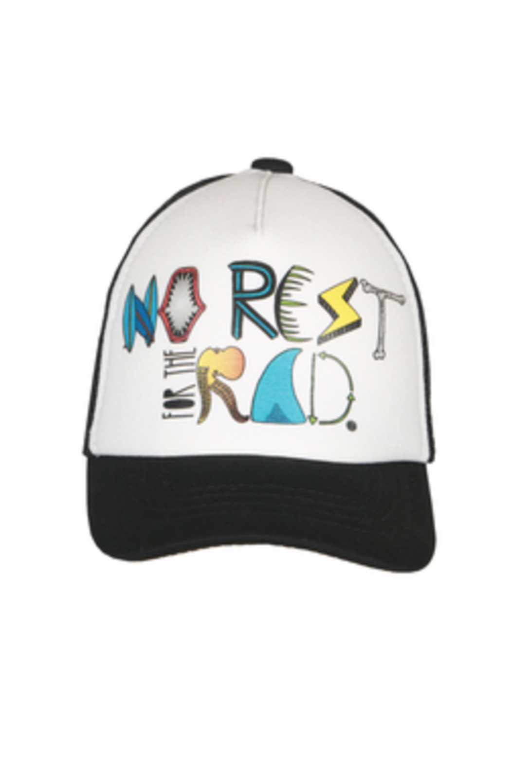 Grom Squad No Rest For The Rad Trucker Hat - Front Cropped Image
