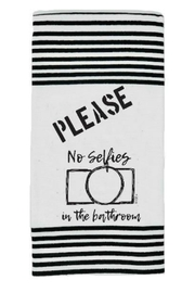 Twisted Wares No Selfies Towel - Product Mini Image