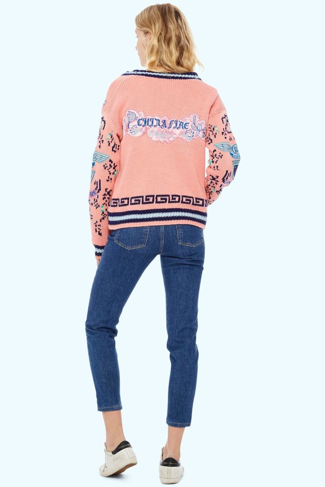 TAGS No! Sweater- China-Fire - Front Full Image
