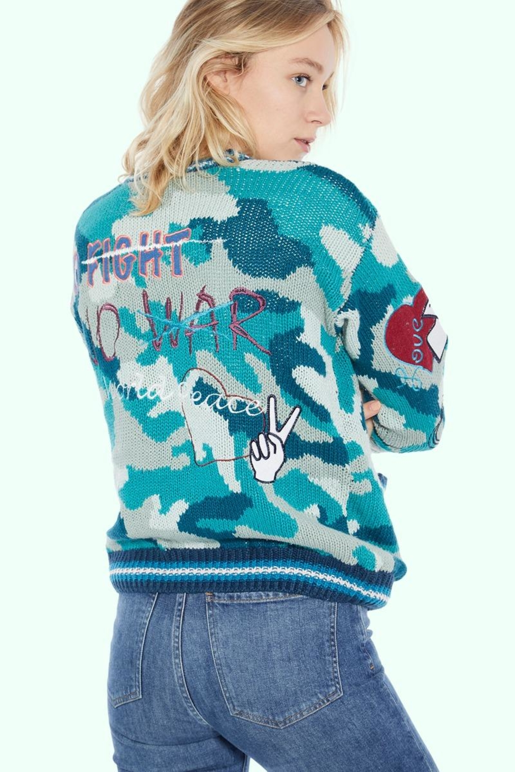 TAGS No! Sweater- Peace-No-War - Front Full Image