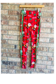 No Comment Christmas Naughty-Nice Leggings - Front cropped