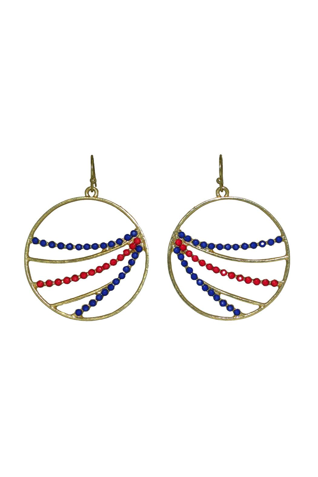 No Label  Red Blue Hoops - Main Image