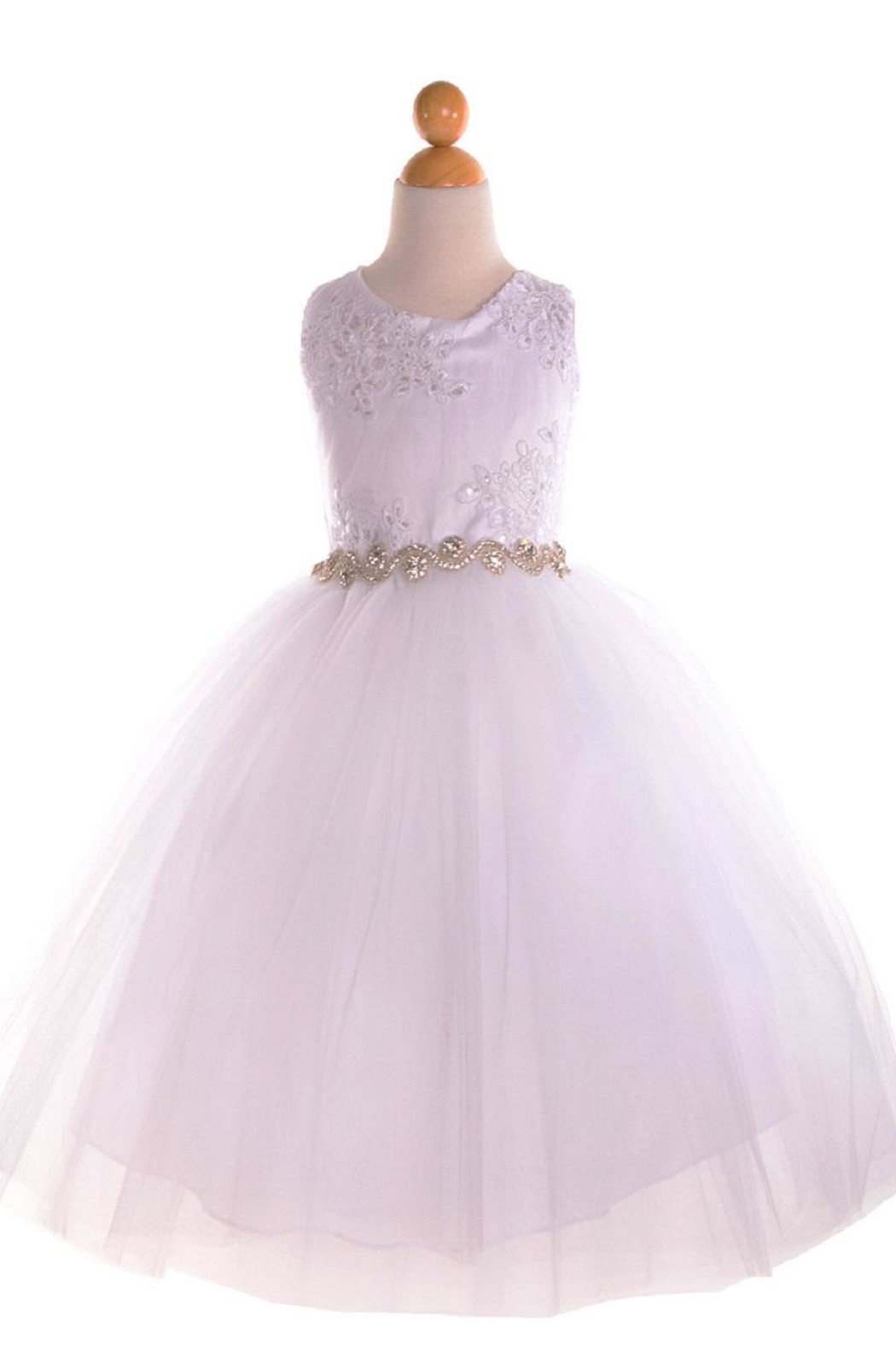 No Name Baptism Or Flowergirl Dress - Front Cropped Image