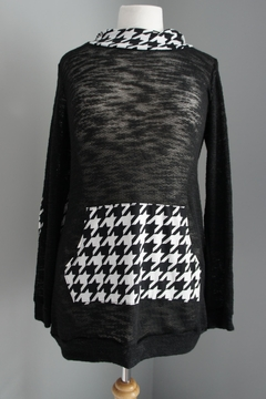 No Name Houndstooth Hoodie Sweater - Product List Image