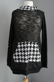 No Name Houndstooth Hoodie Sweater - Product Mini Image