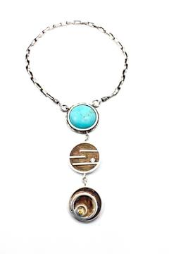 Shoptiques Product: Turquoise And Silver Necklace