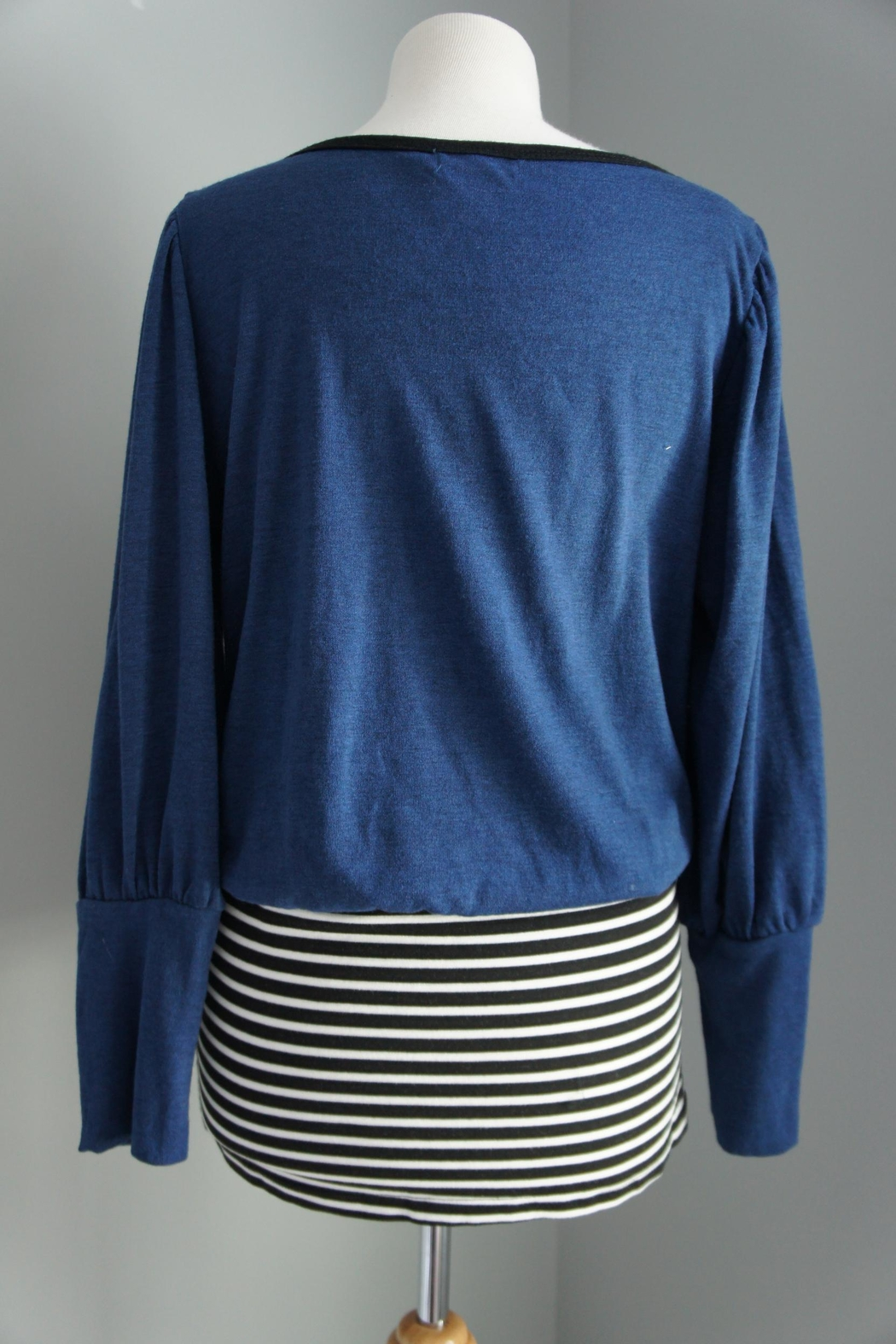 No Name Solid-Sweater-Top Striped Mini - Side Cropped Image