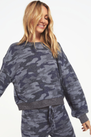 z supply Noa Camo Marled Top - Product Mini Image