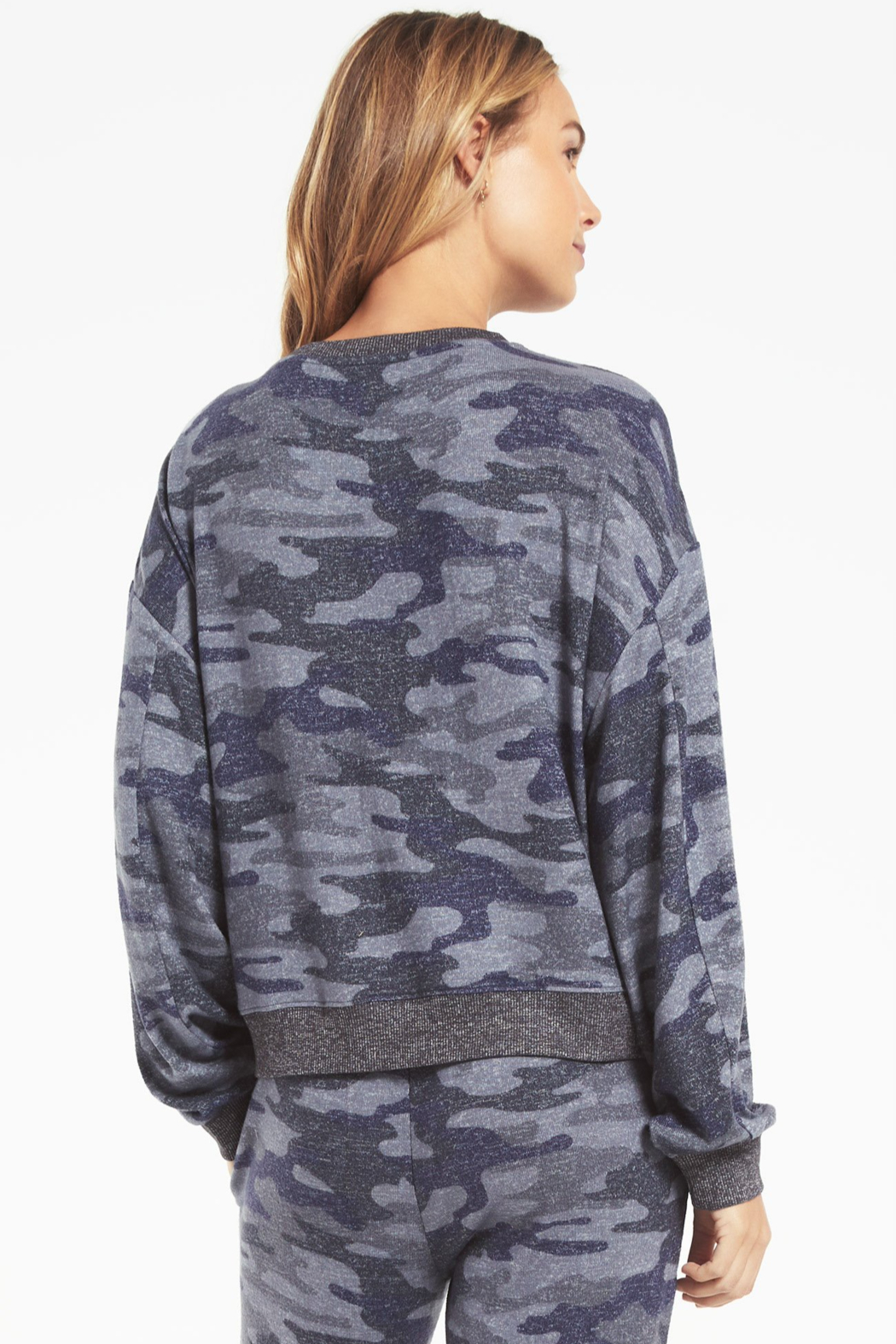 z supply Noa Camo Marled Top - Side Cropped Image