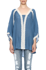 Noa Elle Juliet Blue Top - Side cropped