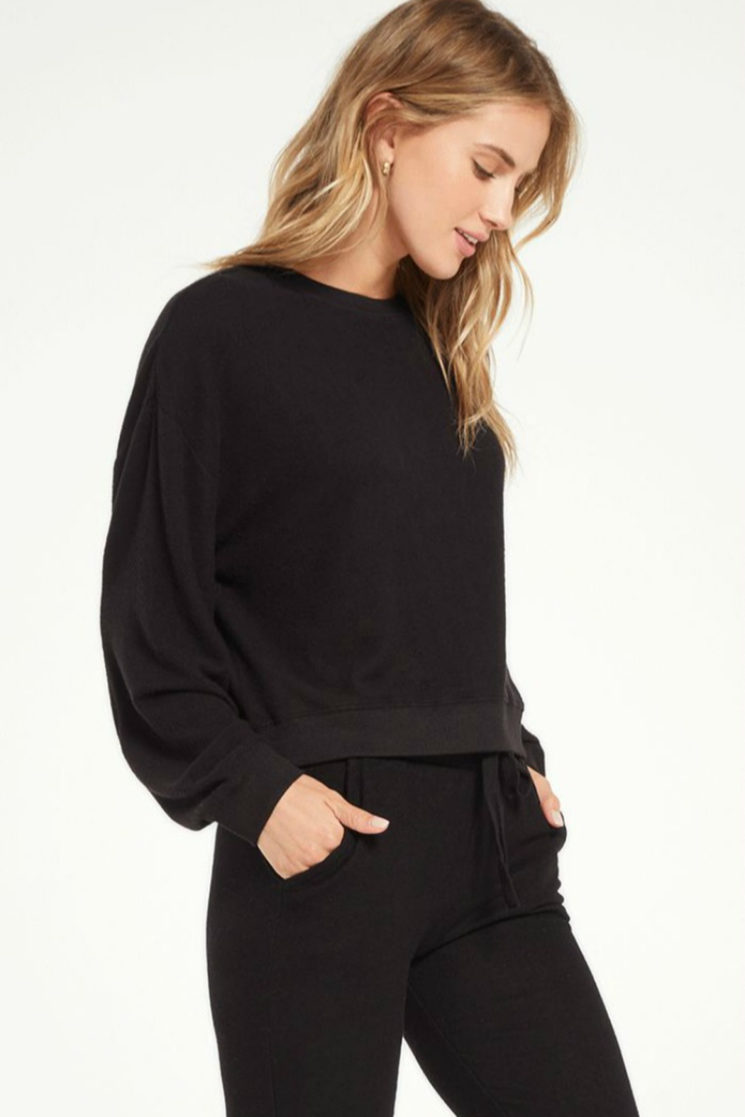 z supply Noa Marled Top - Front Full Image