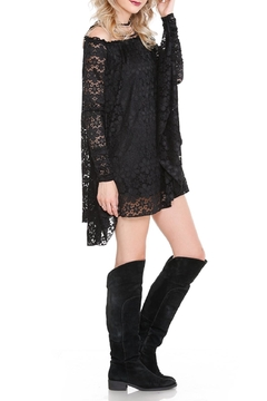Noa Elle Black Lace Tunic - Alternate List Image