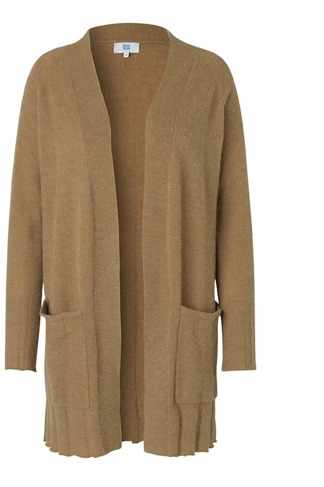 Noa Noa Dull Gold Cardigan - Front Cropped Image