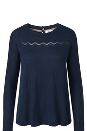 Noa Noa Navy Sweater - Front cropped