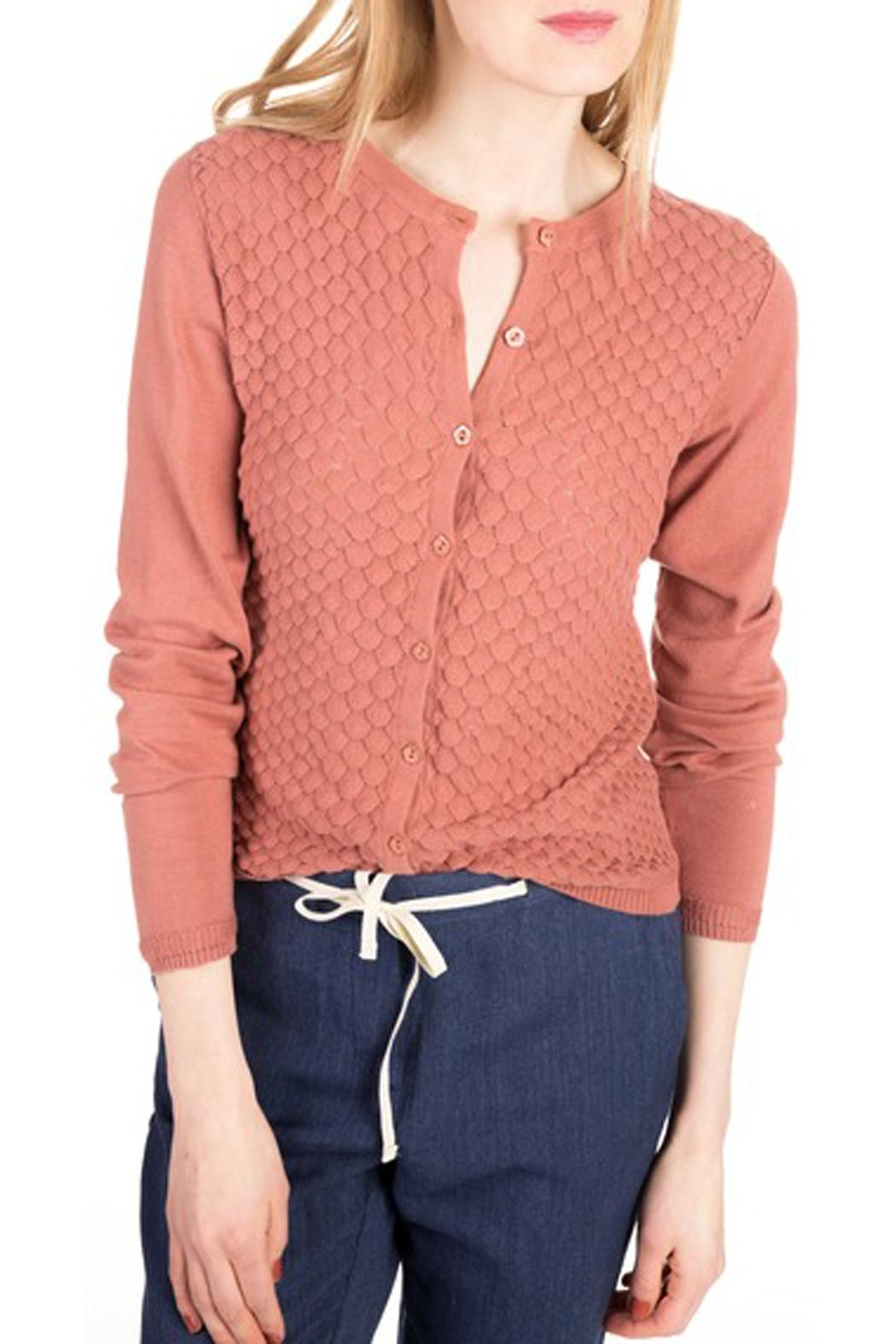 Noa Noa Organic Cotton Cardigan - Front Cropped Image