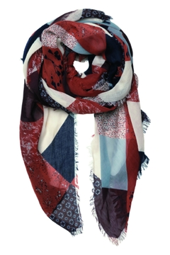 Shoptiques Product: Patchwork Printed Scarf