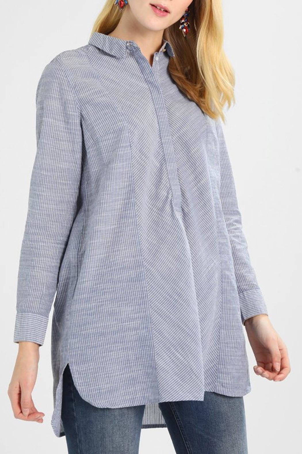 Noa Noa Striped Long Blouse - Front Cropped Image
