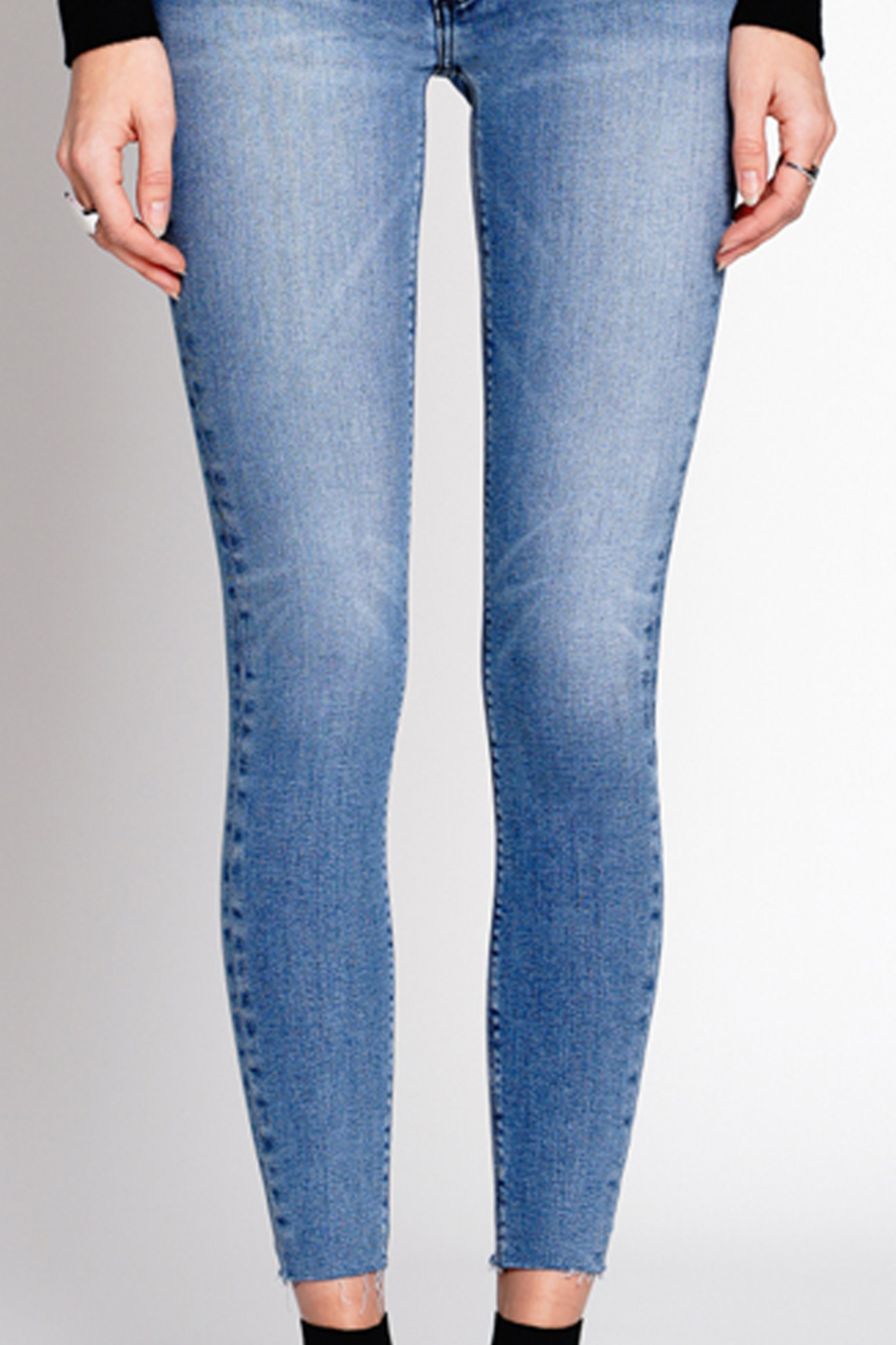 Black Orchid Denim NOAH ANKLE FRAY JEAN - Side Cropped Image