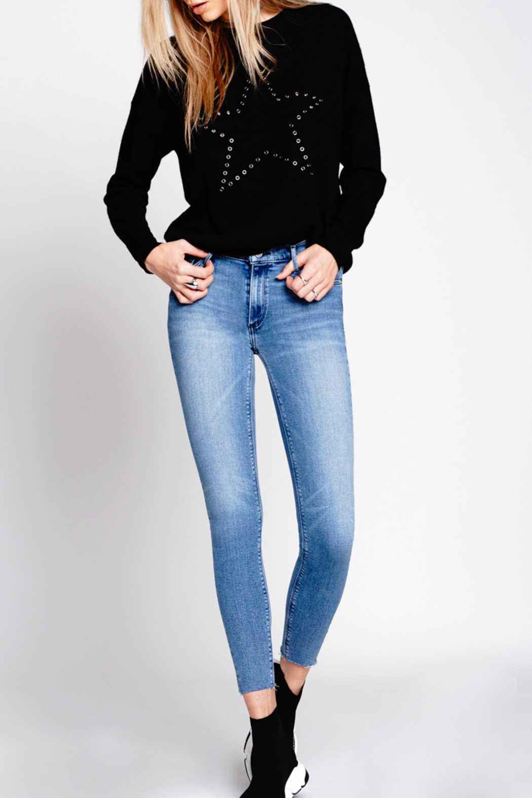 Black Orchid Denim NOAH ANKLE FRAY JEAN - Main Image