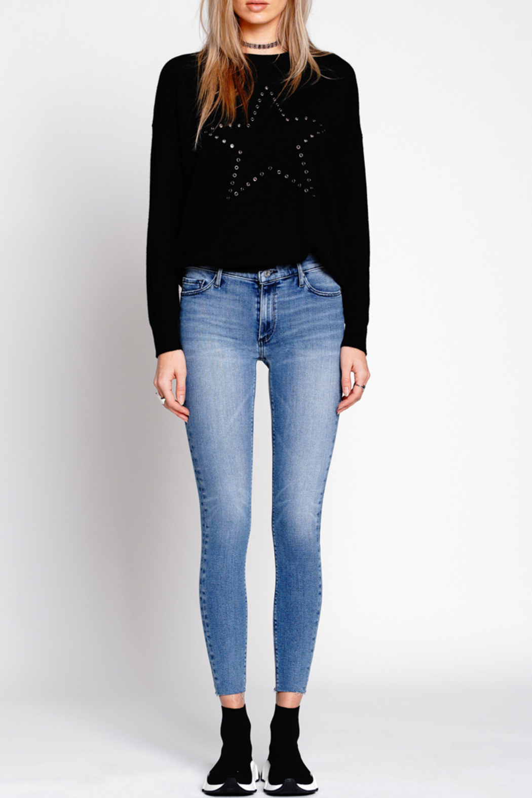 Black Orchid Denim NOAH ANKLE FRAY JEAN - Front Full Image