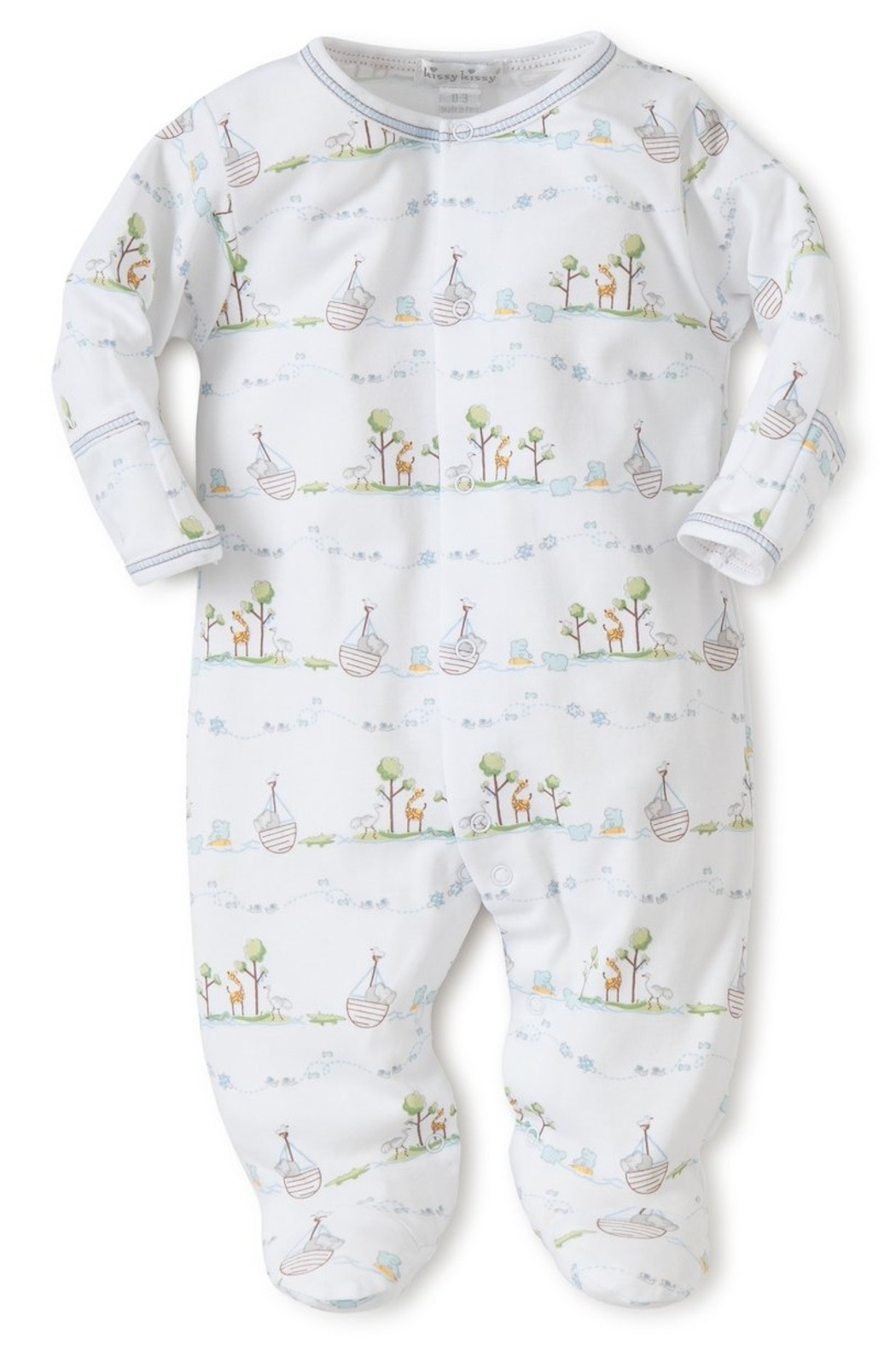 Kissy Kissy Noah's Print Footie - Front Cropped Image