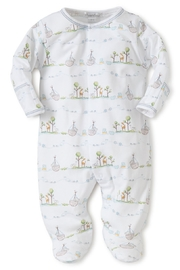 Kissy Kissy Noah's Print Footie - Front cropped