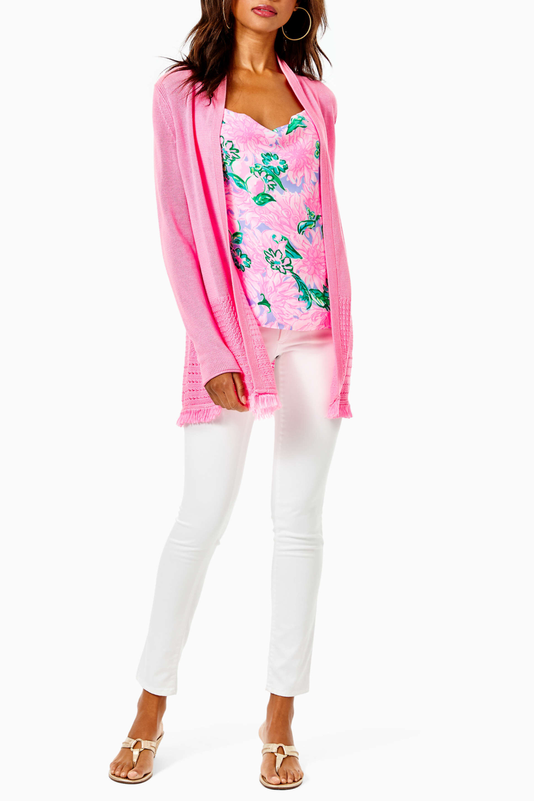 Lilly Pulitzer  Noble Fringe Cardigan - Side Cropped Image