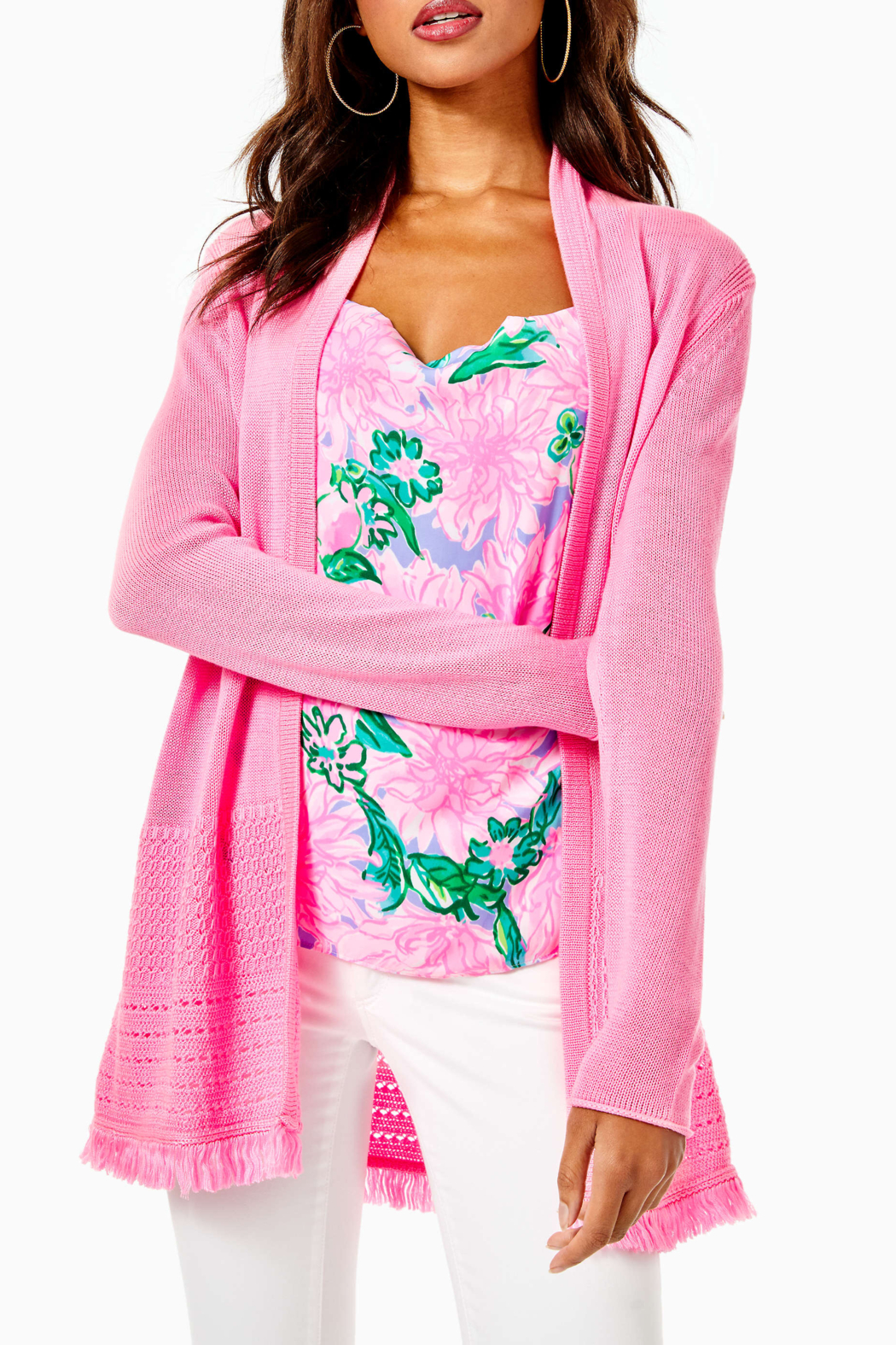Lilly Pulitzer  Noble Fringe Cardigan - Main Image