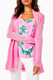 Lilly Pulitzer  Noble Fringe Cardigan - Front cropped