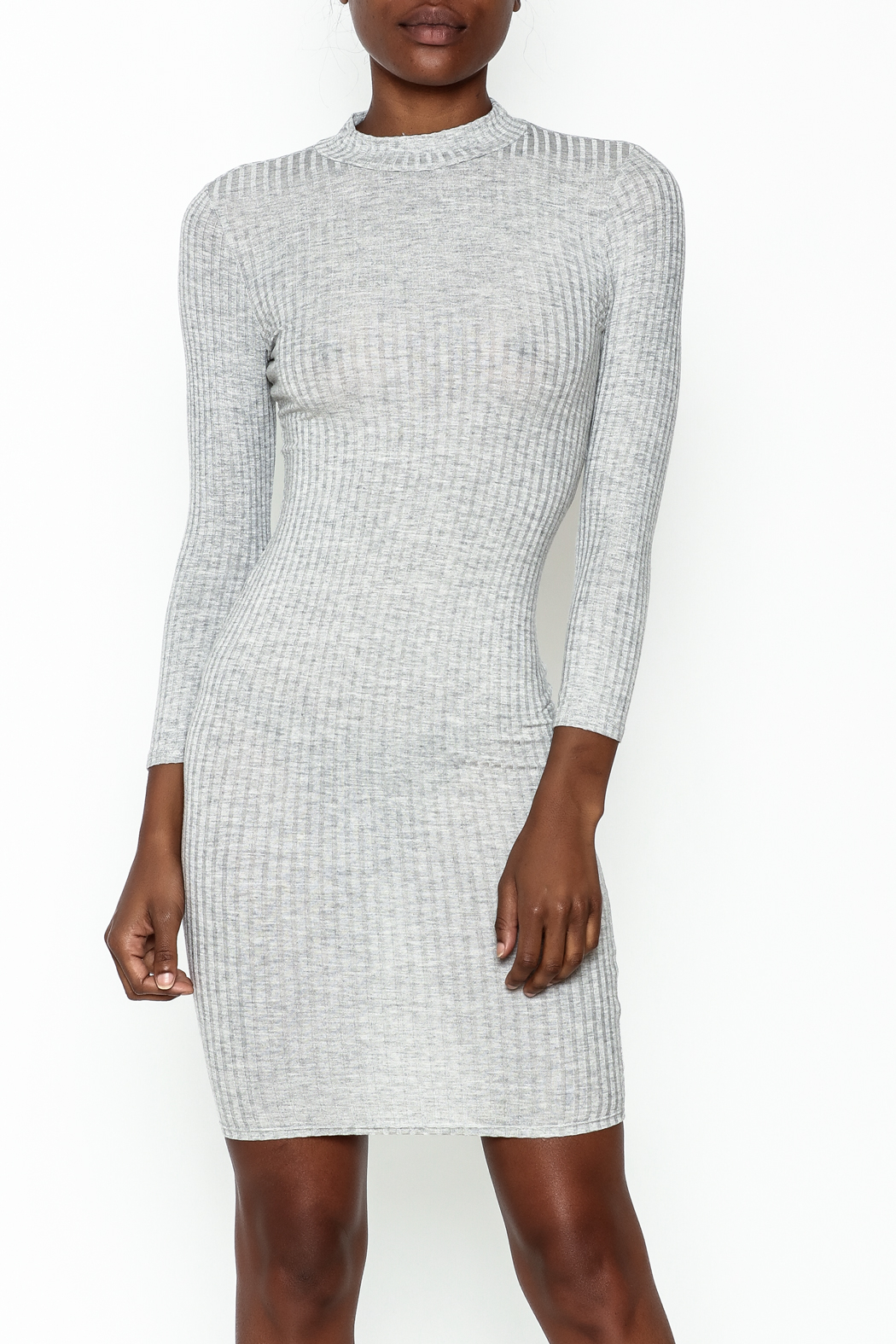 Noble U Bodycon Mock Neck Dress - Main Image