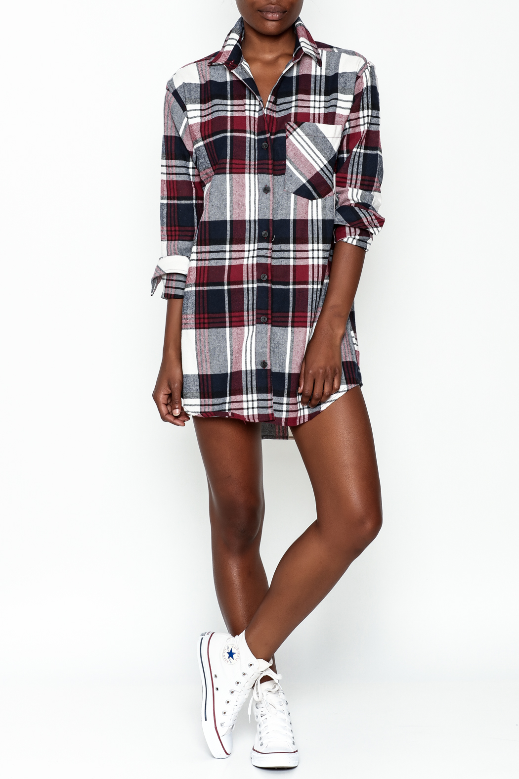 Noble U Plaid Flannel Shirt - Side Cropped Image