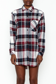 Noble U Plaid Flannel Shirt - Front full body