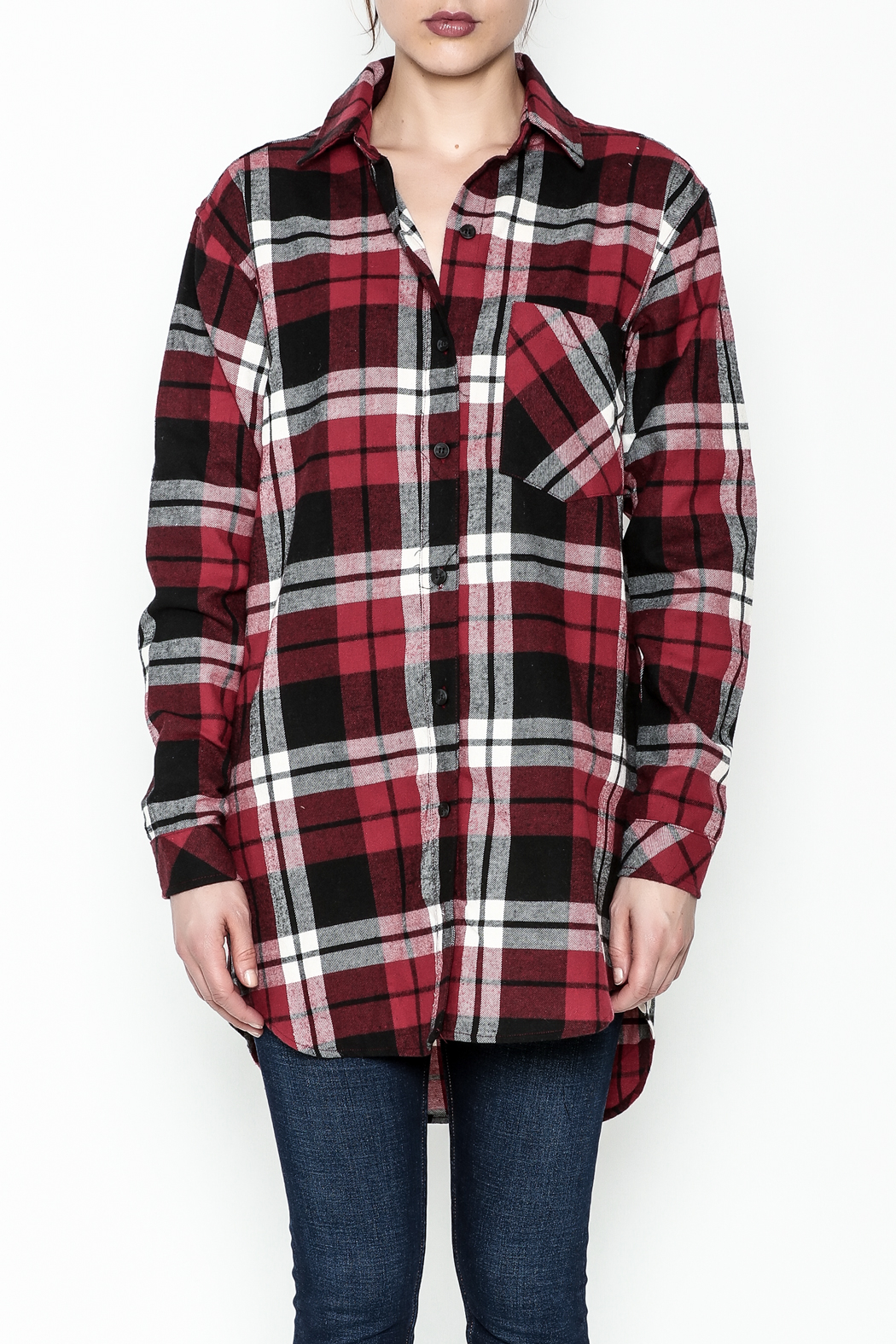 Noble U Plaid Flannel Shirt - Front Full Image