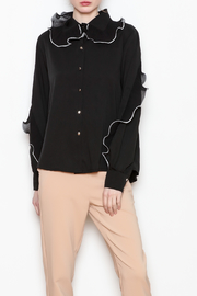Noble U Ruffle Detail Blouse - Front cropped
