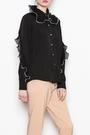 Noble U Ruffle Detail Blouse - Front full body