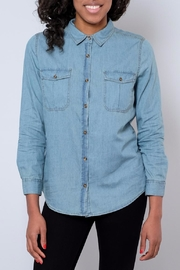 Noble U Chambray Button Down Shirt - Front cropped