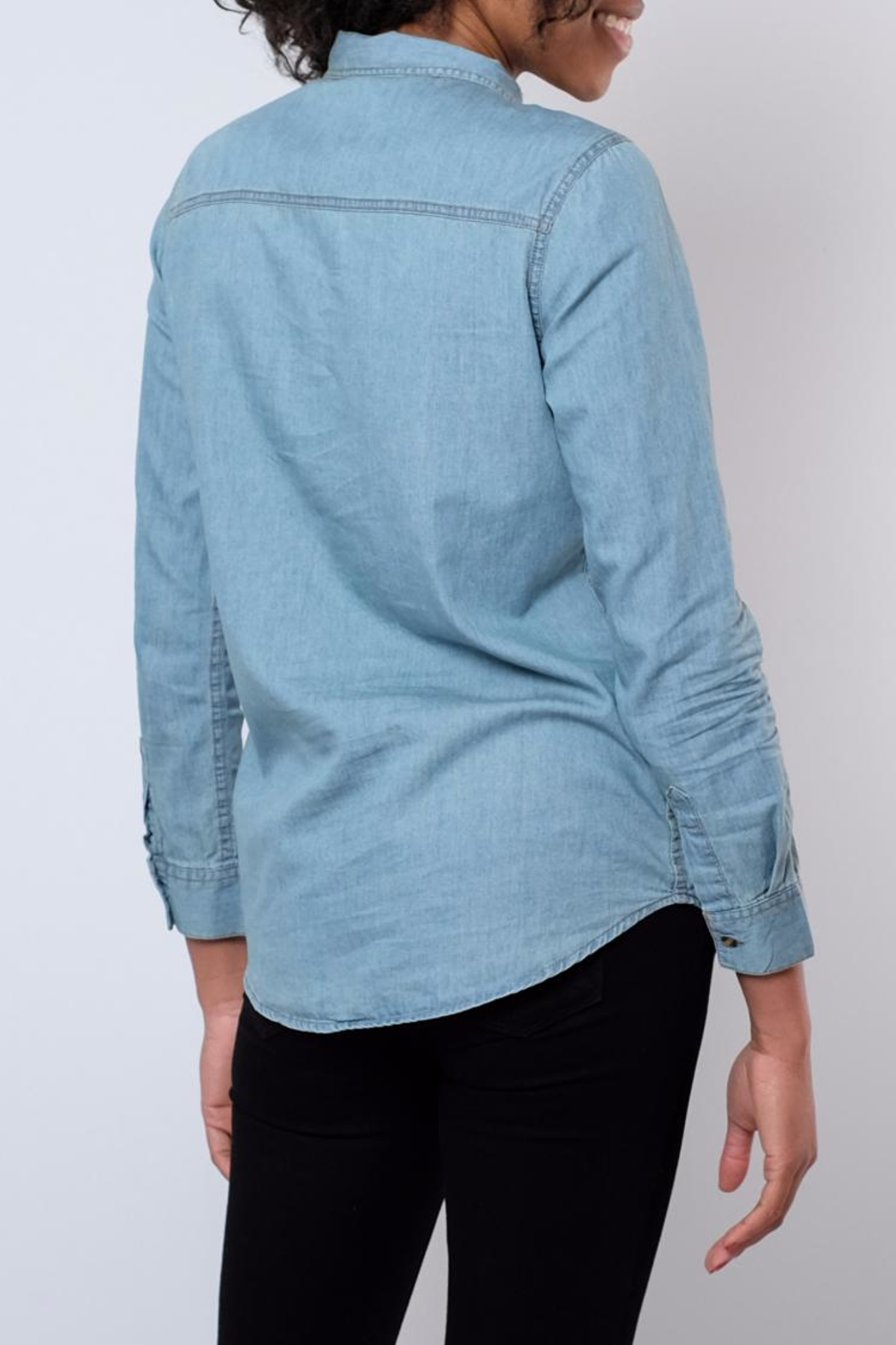 Noble U Chambray Button Down Shirt - Side Cropped Image