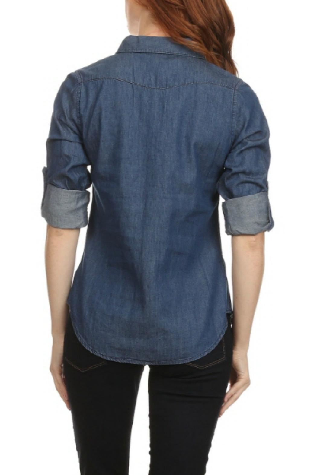 Noble U Jean Button-Down Shirt - Side Cropped Image