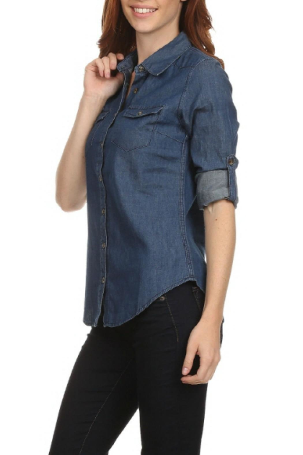 Noble U Jean Button-Down Shirt - Front Full Image