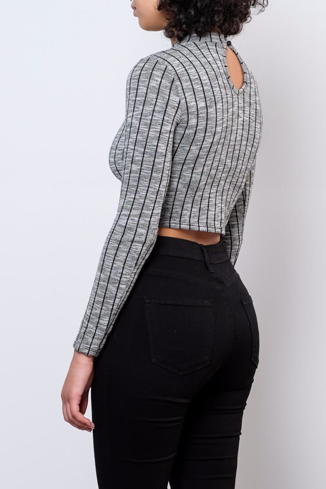 Noble U Striped Crop Top - Side Cropped Image