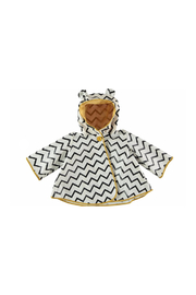 Nobodinoz Black Zigzag Raincoat - Product Mini Image
