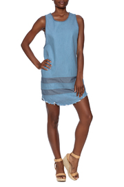 Nobody's Buziness Denim Dress - Front full body
